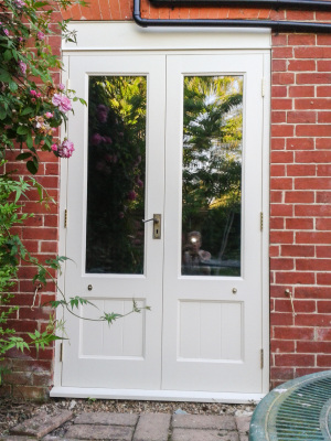 Exterior door in Farrow and Ball.