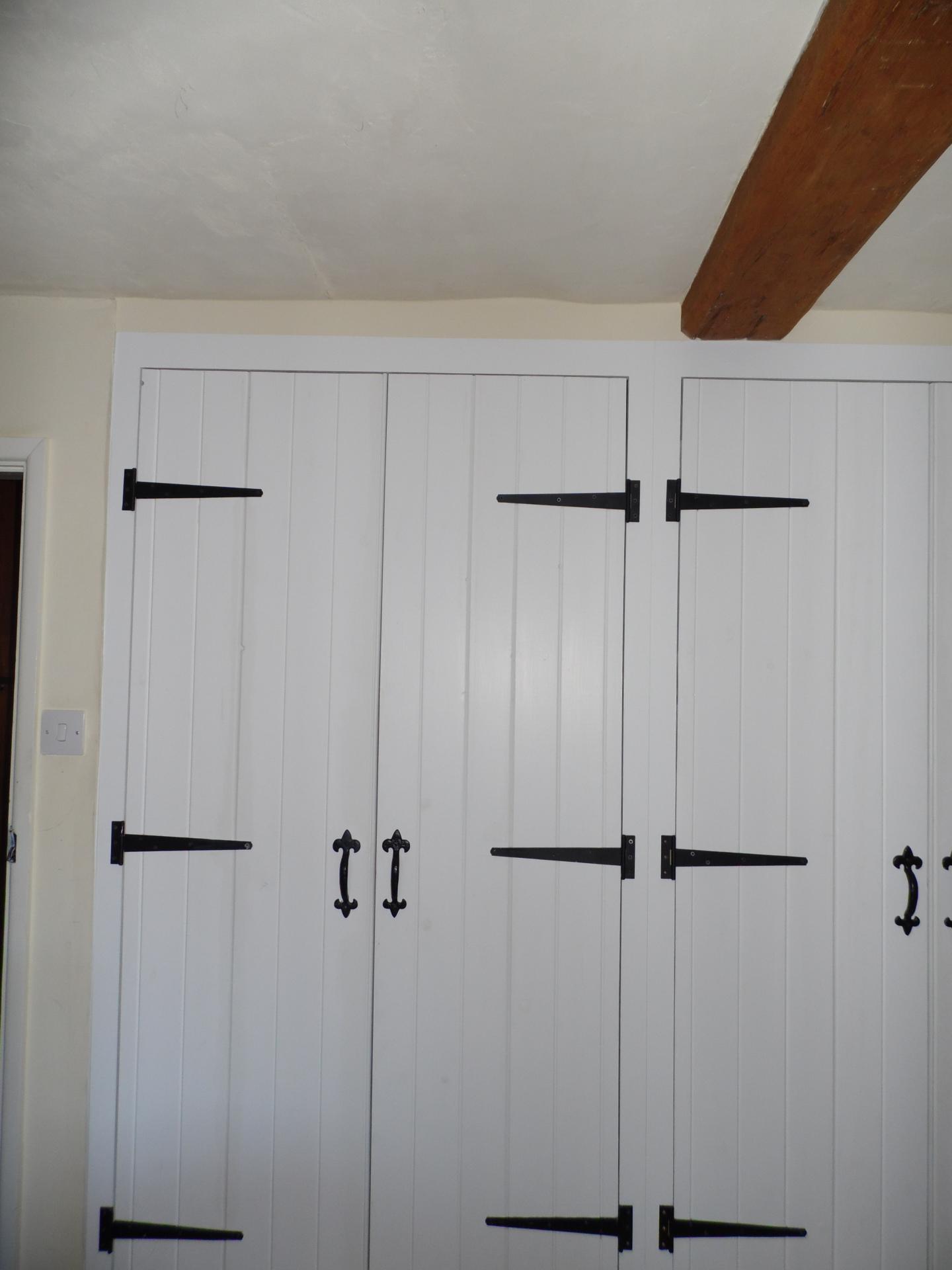 Wardrobe doors.