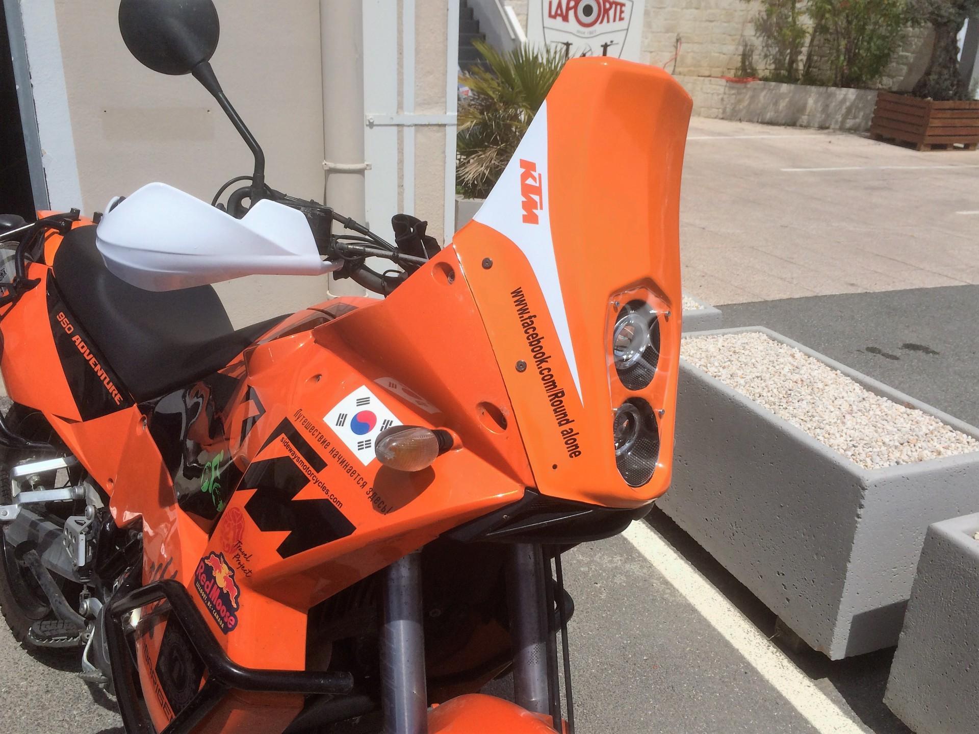 KTM motorbike vinyl wrap