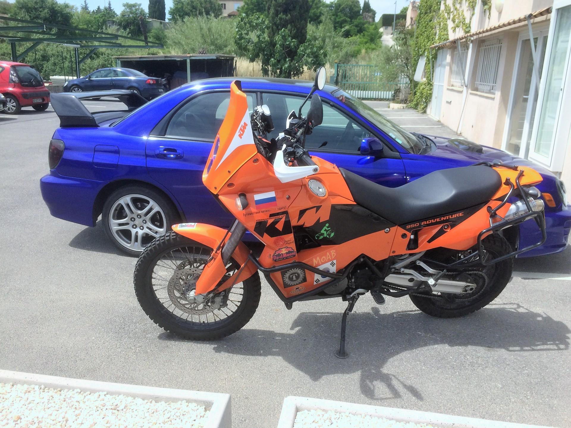 car vinyl wrap, motorbike vinyl wrap, Subaru, KTM