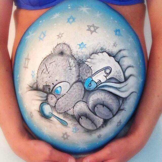 Welcoming Baby Bump Painting to Face Slap!