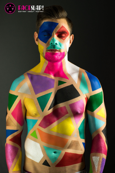Face Slap Colourful Body Paint