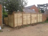 6 foot larch lap panels.1 foot trellis