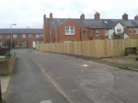 closeboard using concrete posts and gravel boards