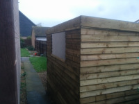7 x 8ft shed using feather edge boarding
