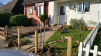 picket fencing posts.4 x 3 inch thick posts for sturdiness