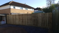 6 foot close board fence