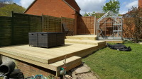 Decking with more than one level