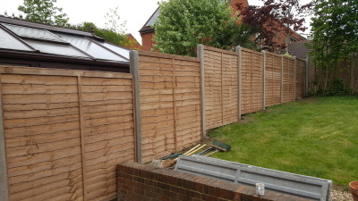 6ft lap panels.8ft concrete posts in milton keynes