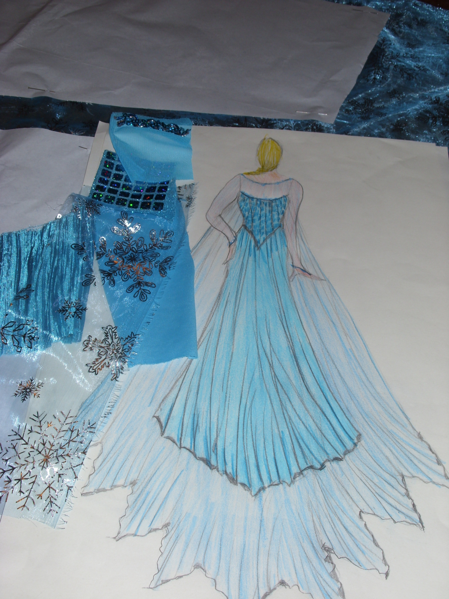 Frozen dress for my two grand daughters