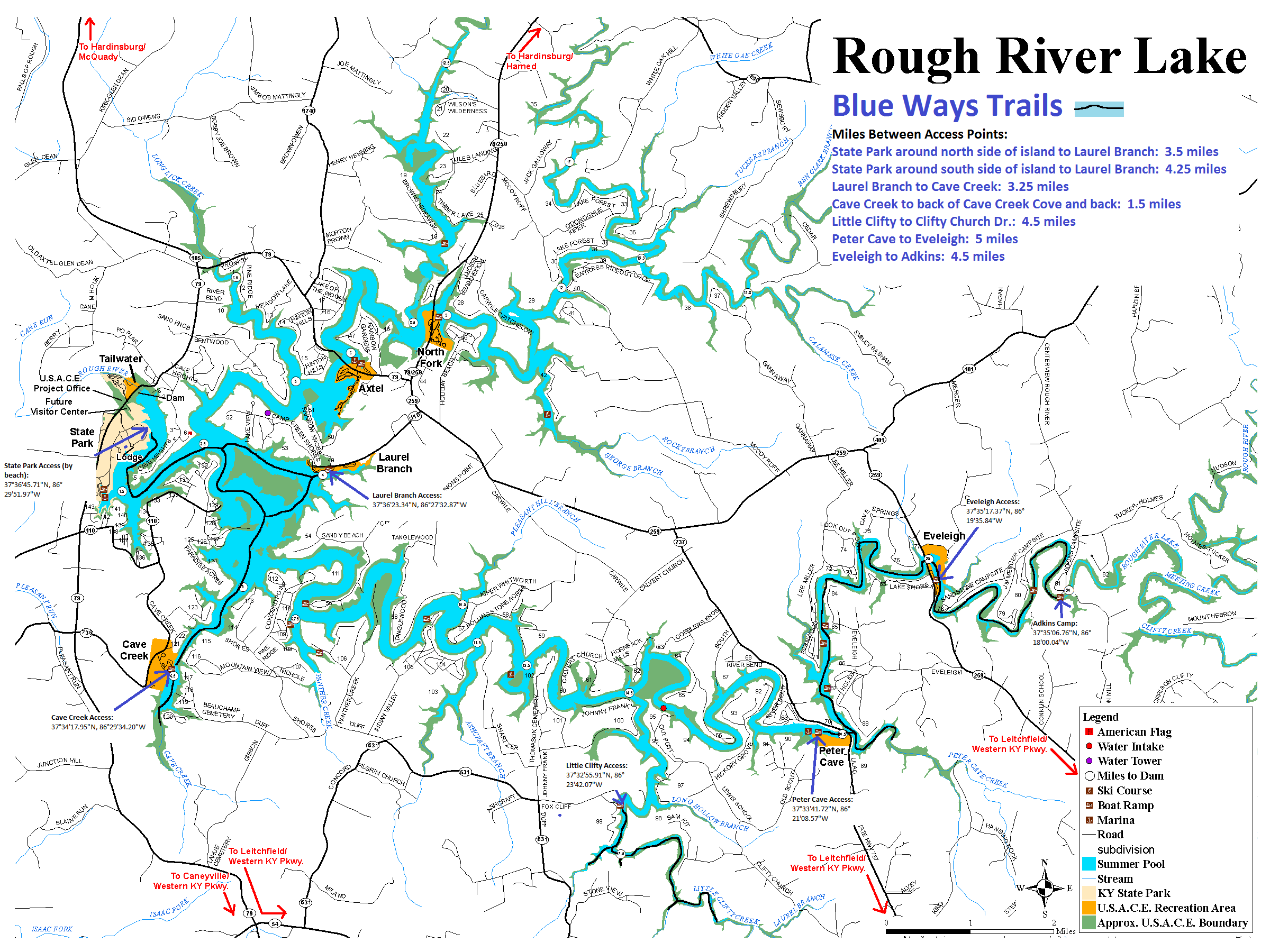 rough river lake map Friends Of Rough River Lake Inc rough river lake map