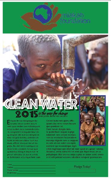 Clean Water None-Profit Pledge Flyer