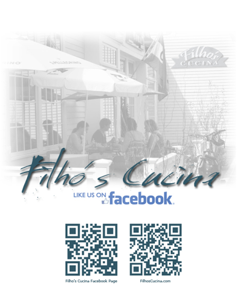 Filho's Cucina Advertisment
