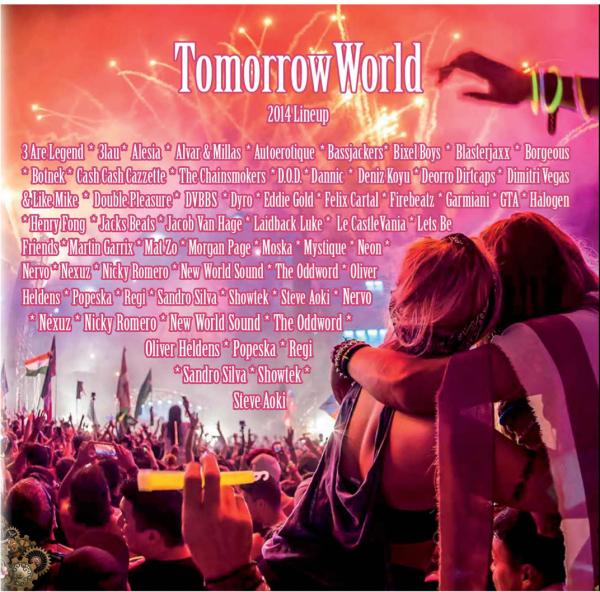 TomorrowWorld CD Design and Poster