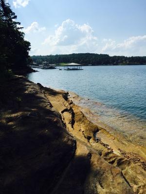 Beautiful Rock Shoreline