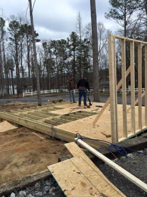 Cabin # 1  under construction
