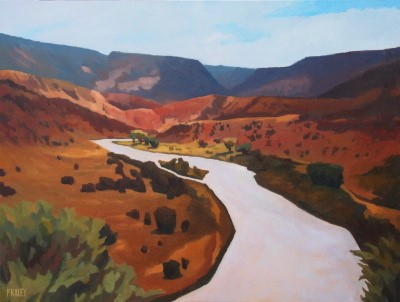 "Chama River                                                      $3400.00                                                      30x40"" Oil on Canvas"