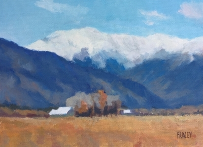 "Early Snow                                                            $300.00                                                      6x8"" Oil on Canvas"