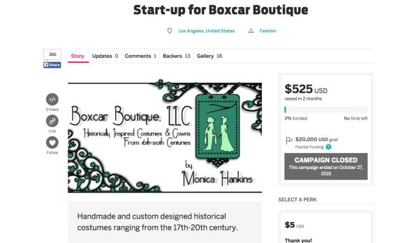 fundraising screenshot