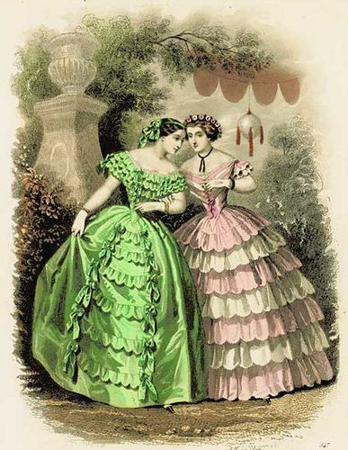 1860's ball gowns
