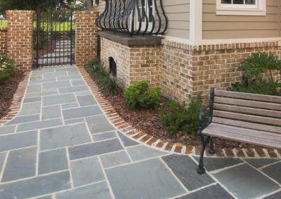 A very clean and minimalist example of Garden Patio Paving available from Creative Stone Castings