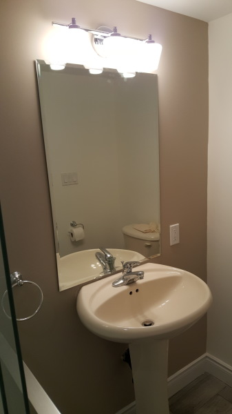 Markham basement Bathroom