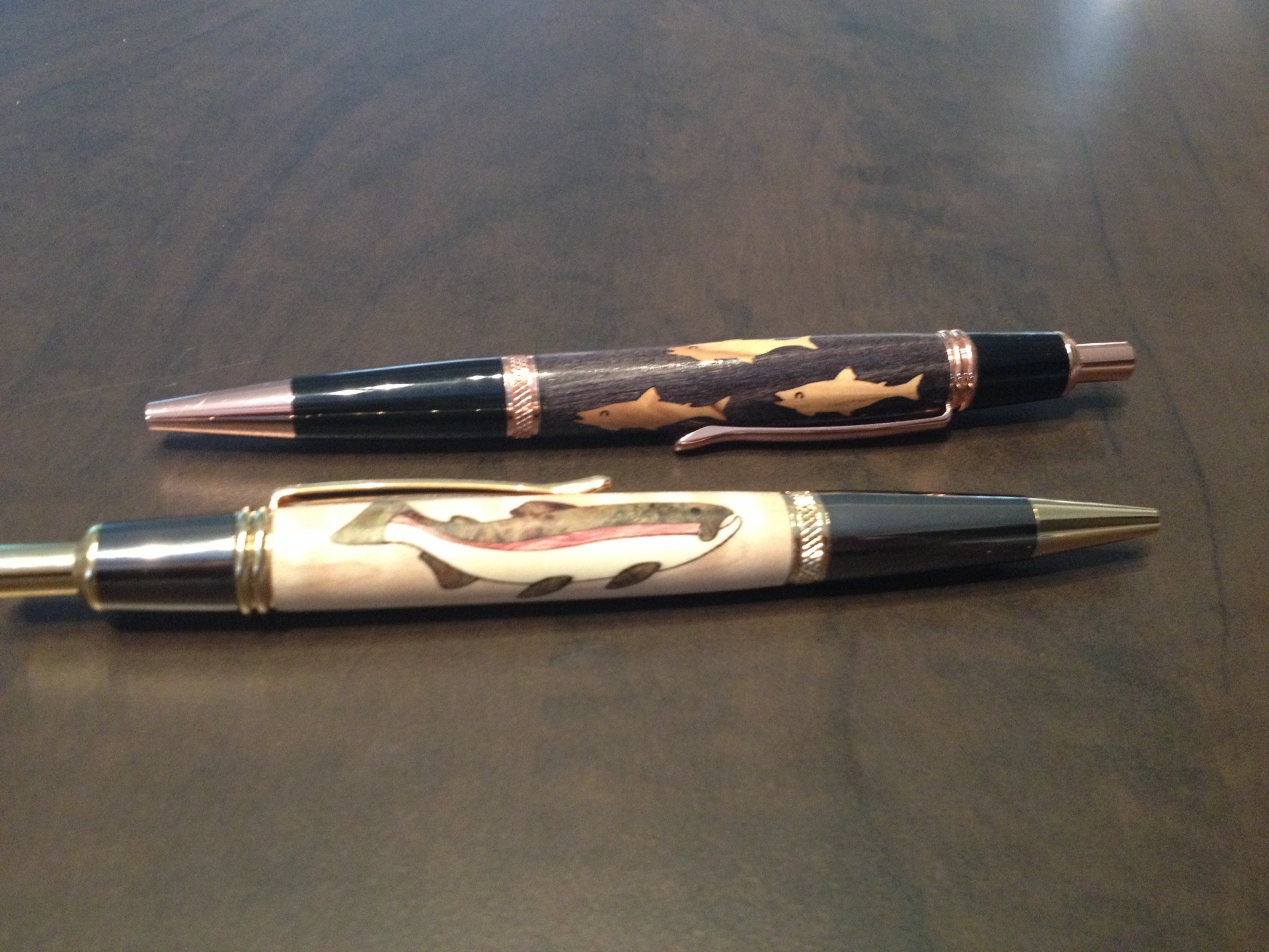 Fish Inlay Pens