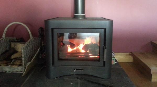 Broseley fires eVo26, SCWS, Grant oil boiler