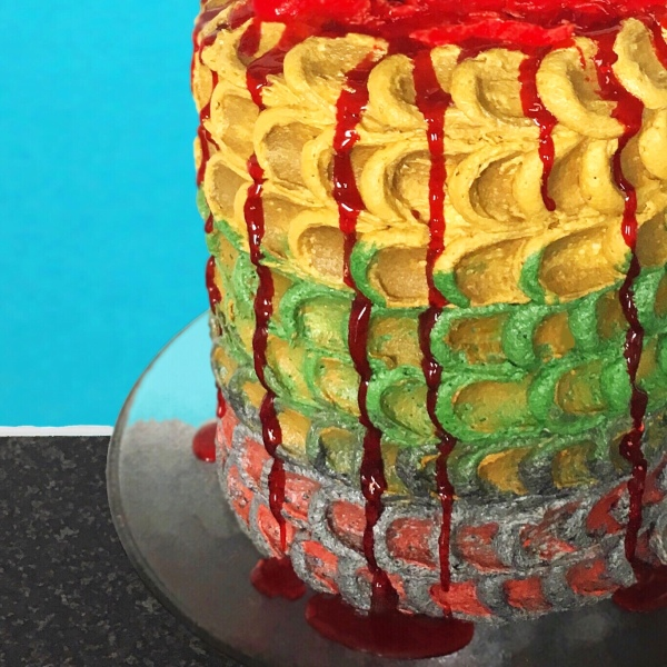 Dragon scale cake