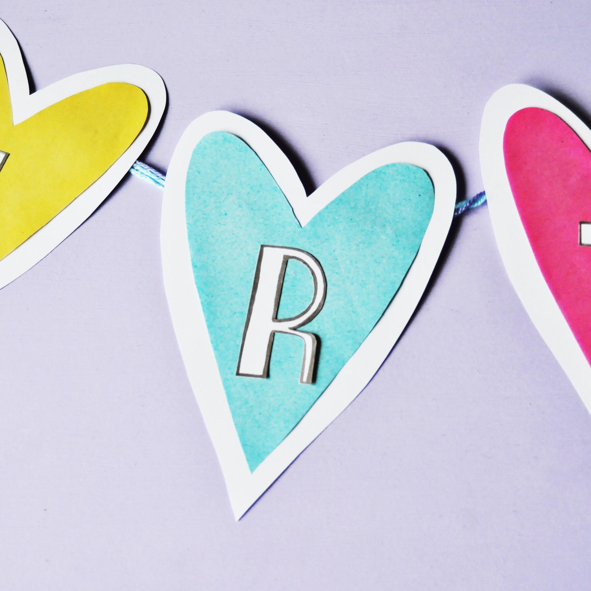 Loveheart Homemade Banner
