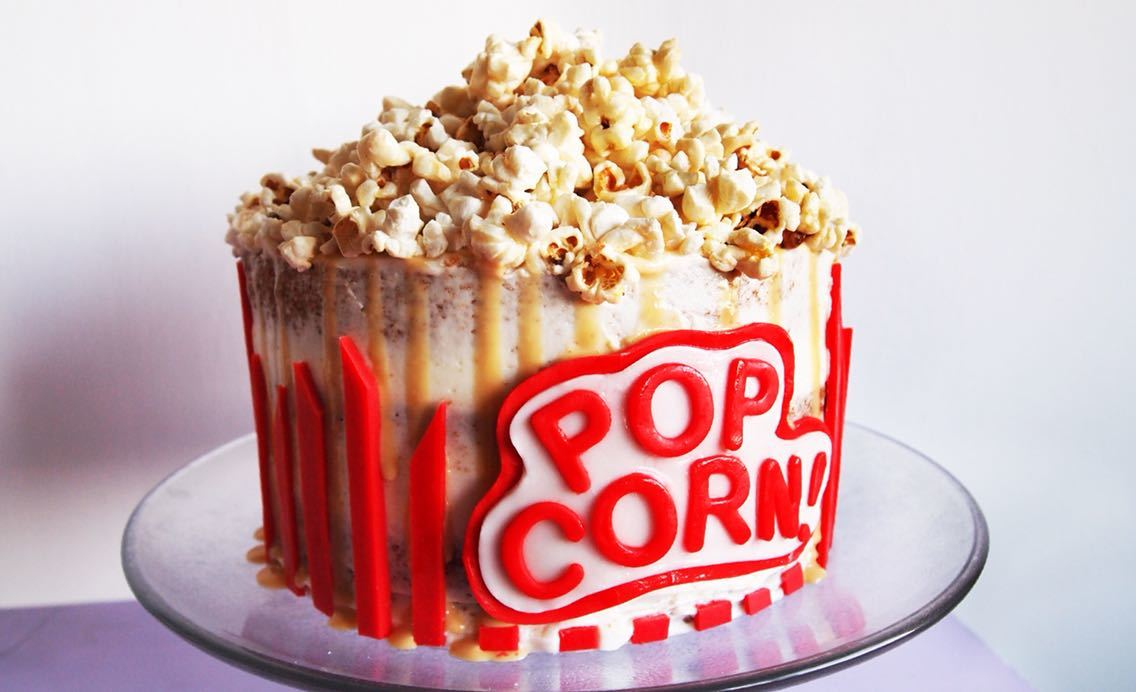Winter Spiced Popcorn Cake