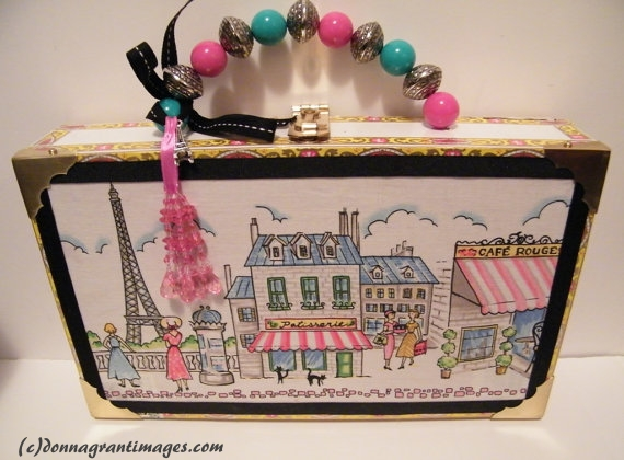 Eiffel Tower Cigar Box Purse
