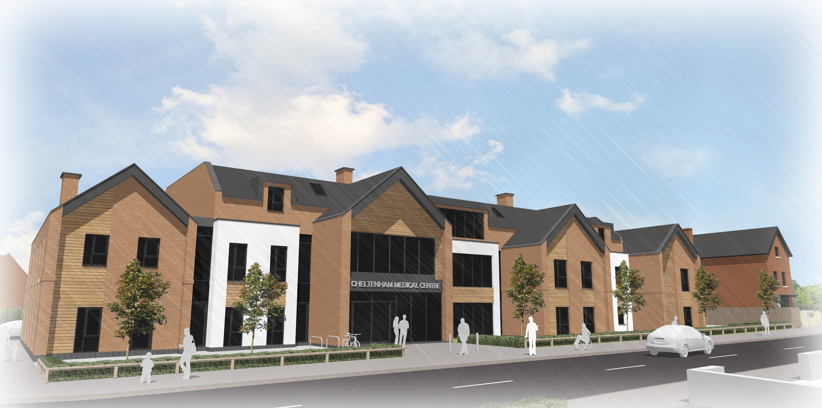 West Gorton Medical Centre Architectural sketch perspective visual