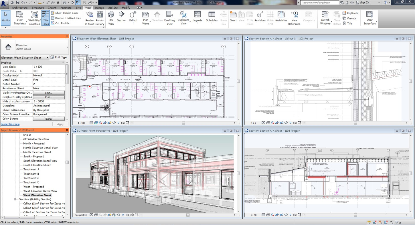 Buildings Information Modelling workspace