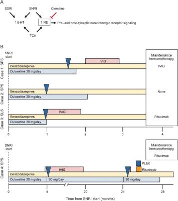 Serotonin-norepinephrine reuptake inhibitors may exacerbate stiff-person syndrome