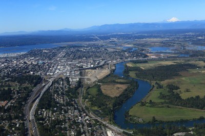 View of Snohomish County (looking north)
