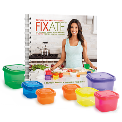 Fixate Cookbook & Portion Containers