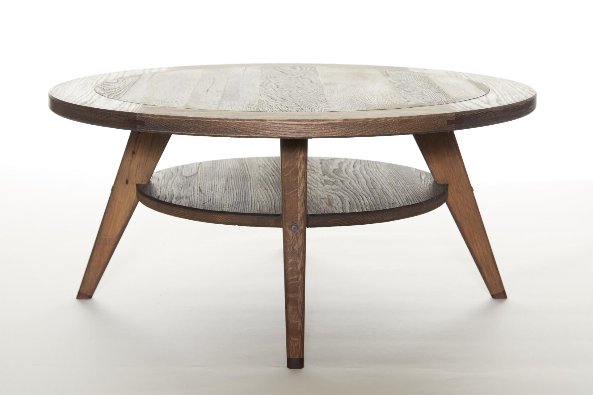 Reclaimed Oak Coffee Table, Mid Century Influence