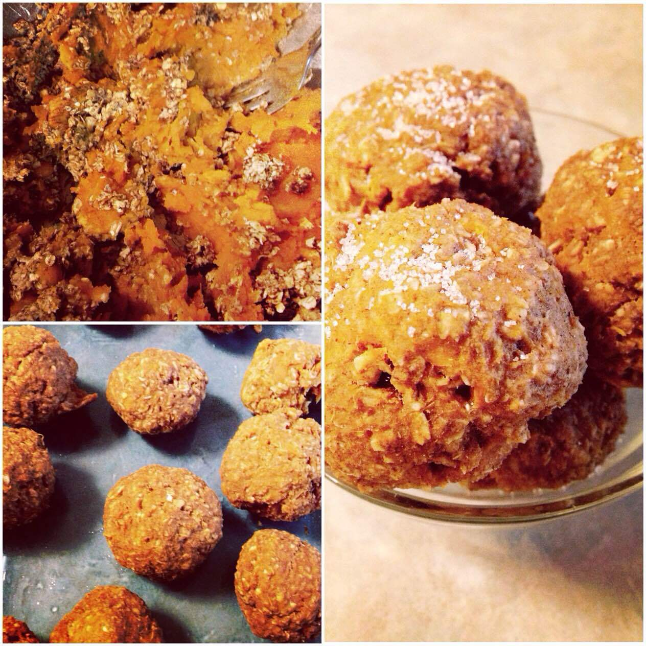 Cinnamon Oatmeal & Sweet Potato Timbits