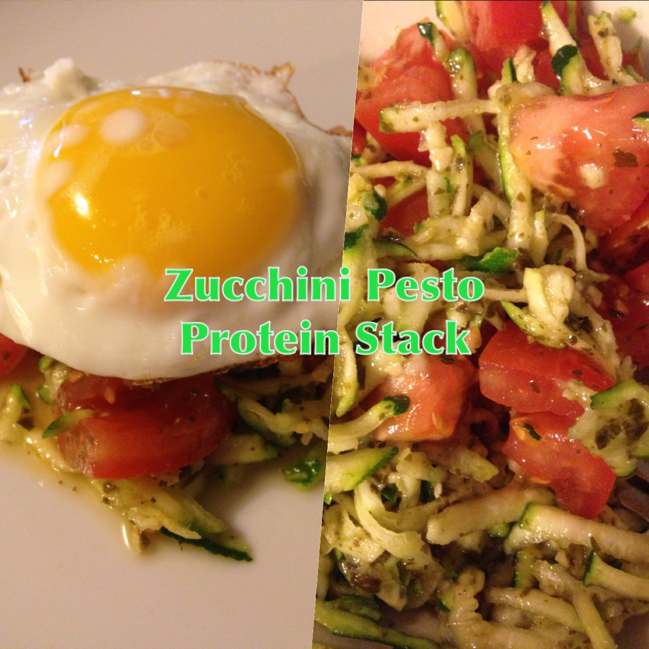 Zucchini Pesto Protein Stack