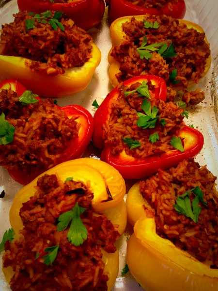 Supreme Stuffed Peppers w Turkey and Sage