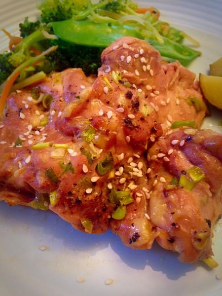 Baked Korean Chicken Thighs