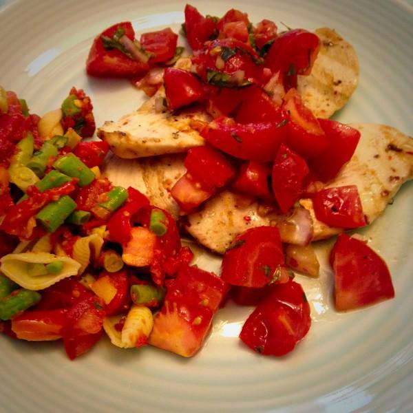 Bread-less Chicken Bruschetta