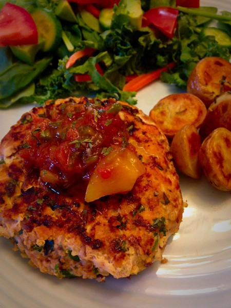 Superfood Salmon, Kale and Quinoa Burgers