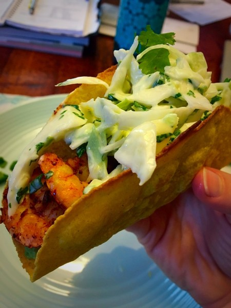 Zesty Shrimp Tacos with Creamy Cilantro Slaw