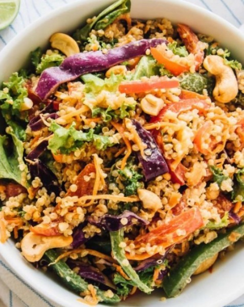 Thai Chicken Cashew Quinoa Salad