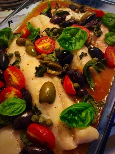 Baked Mediterranean Red Snapper