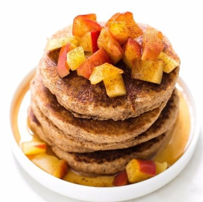 Vegan, Gluten Free Apple Pie Pancakes