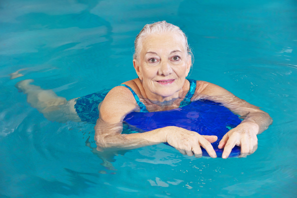 Bigstock Old-woman swimming in water