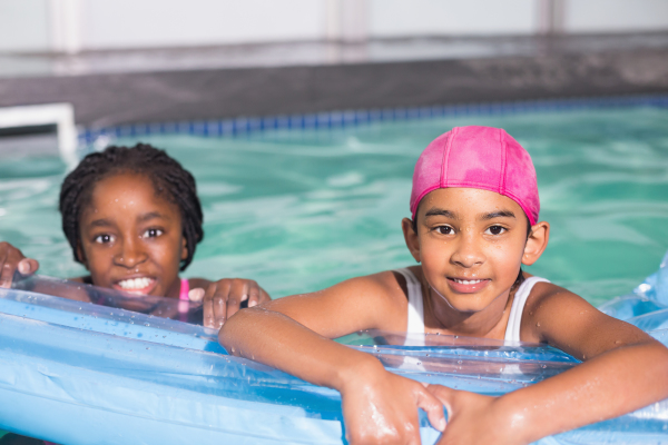 backyard, swimming pool, girls, learn to swim, water safety, mobile swim school
